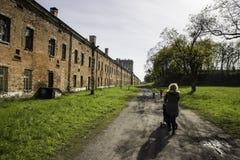 在华沙附近的Modlin堡垒 库存图片