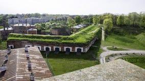在华沙附近的Modlin堡垒 库存照片