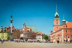 在华沙,波兰,欧洲防御正方形 免版税库存照片