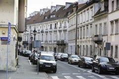 在华沙` s Mariensztat,华沙,波兰 免版税库存图片