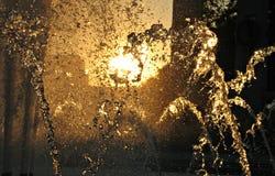 在华盛顿特区二战纪念碑的水流量 库存照片