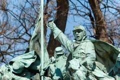 在华盛顿特区的南北战争纪念雕象 库存照片