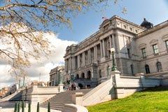 在华盛顿特区的国会图书馆托马斯・杰斐逊大厦 免版税库存照片