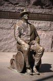 在华盛顿特区的富兰克林・德拉诺・罗斯福雕象 图库摄影