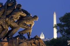 在华盛顿特区的硫磺岛纪念品,美国 免版税库存照片