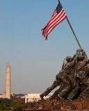 在华盛顿特区的硫磺岛雕象 库存图片