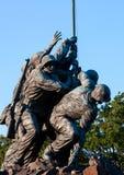 在华盛顿特区的硫磺岛雕象 库存照片