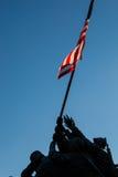在华盛顿特区的硫磺岛雕象 图库摄影