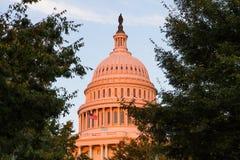在华盛顿特区的美国首都大厦,美国 免版税库存图片