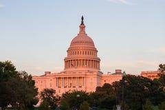 在华盛顿特区的美国首都大厦,美国 库存图片