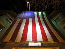 在华盛顿特区的退伍军人日旗子 免版税库存图片