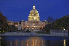 在华盛顿特区,美利坚合众国的首都的国会大厦大厦 图库摄影