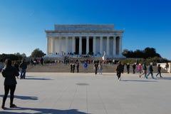 在华盛顿特区,美国的林肯纪念堂。它是美国国家历史文物被修建尊敬亚伯拉罕・林肯。 免版税库存图片