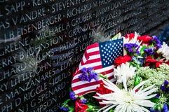 在华盛顿特区,美国的越战纪念碑 免版税库存图片