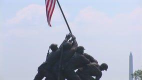 在华盛顿特区,附近的陆战队战争纪念建筑 股票视频