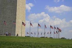 在华盛顿特区2015年7月的华盛顿纪念碑 图库摄影