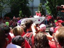 在华盛顿首都队胜利游行的制冰机 库存照片