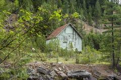 在华莱士,爱达荷附近的老谷仓 库存图片