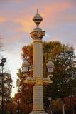 在协和广场广场,巴黎的老路灯柱 免版税库存照片