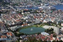 在卑尔根之上 免版税库存图片