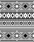 在单色,黑白颜色的无缝的种族样式 免版税图库摄影
