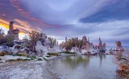 在单音湖的日出 库存图片
