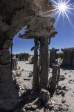 在单音湖的沙子凝灰岩 库存照片