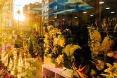 在卖花人的花 图库摄影