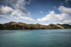 在南北海岛之间的新西兰横穿 免版税库存照片