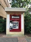 在南卡罗来纳大学的校园里的创建者联邦信贷协会ATM在哥伦比亚 免版税库存图片