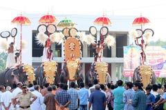 在南印度的印度象仪式 免版税库存照片