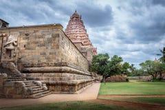 在南印度边段落的印度寺庙 库存图片