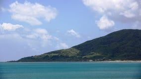 在南台湾的山和海岸线视图 库存图片