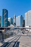 在南大街海口降低曼哈顿在一个晴天 库存图片