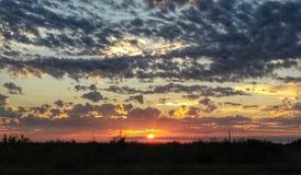 在南得克萨斯的日落 库存照片