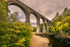 在南泰恩河谷的Lambley高架桥 免版税库存图片