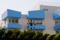 在南海滩的艺术装饰大厦 库存照片