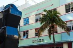 在南海滩,迈阿密的海洋驱动 免版税库存照片