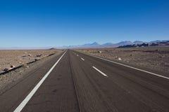 在南美洲/平底锅美国的漫长的路 库存照片