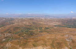 在南谷视图的黎巴嫩litani 免版税库存照片