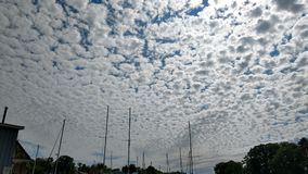 在南避风港,密执安的卷积云 图库摄影