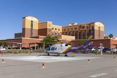在南部的小山医院在拉斯维加斯, NV的紧急直升机 图库摄影