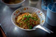 在南部的油煎的Hokkien面条泰国 免版税图库摄影