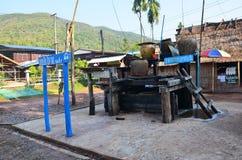 在南,泰国取缔Bo Kluea村庄 免版税图库摄影