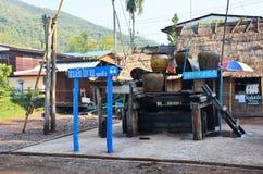 在南,泰国取缔Bo Kluea村庄 免版税库存照片