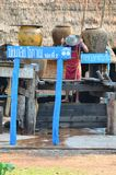 在南,泰国取缔Bo Kluea村庄 库存图片
