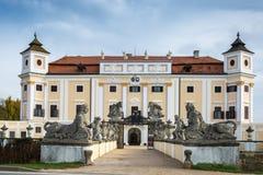 在南Moravian的Milotice大别墅在捷克 免版税库存照片