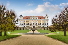 在南Moravian的Milotice大别墅在捷克 免版税库存图片