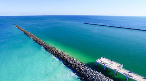 在南Pointe的迈阿密海滩码头 免版税库存照片