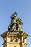 在南Rossmarkt的约翰内斯・谷登堡纪念碑在Fra 免版税图库摄影